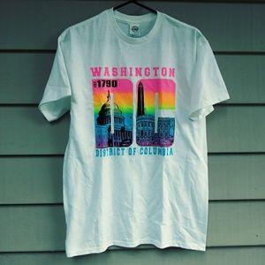 Neon Rainbow Washington D.C. T Shirt